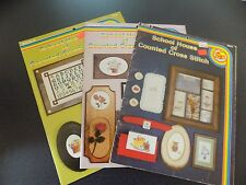 School House of Counted Cross Stitch - BOOKS 2-6- and 9