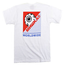 "Mishka NYC ""Keep Watch Grid"" Tee (White) Men's Short Sleeve Graphic T-Shirt"