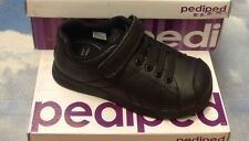 Pediped Flex Jake Black Leather Uniform Shoe Size 24-30 / US Kid Size 8 to 13