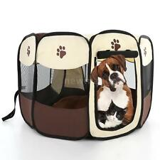 Dog Kennel Pet Fence Puppy Pop-up Playpen Tent Exercise Pen Folding Crate V7W9