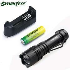 Zoom CREE Q5 7000LM Mini LED Flashlight Torch Light + 14500 Battery + Charger