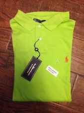 NEW AUTHENTIC $75 POLO RALPH LAUREN Custom Fit Neon Green Polo Shirt L Pony