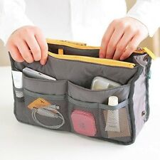 Practical Make Up Handbag Purse Nylon Dual Organizer Insert Cosmetic Storage Bag