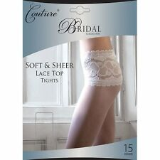Silky Womens Ladies Couture Luxury Bridal Collection Sheer Lace Top Tights