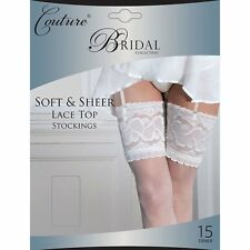 Silky Womens Ladies Couture Luxury Bridal Collection Sheer Lace Top Stockings
