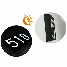 Solar Powered Wall Mount  Door Lamp Lighted House Number LED Sign  Light Control
