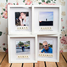 PERSONALISED BIRTHDAY SCRABBLE PHOTO FRAME *40th, 50th, 60th & 70th BIRTHDAY*