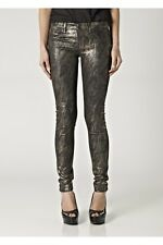 J Brand 901 Gold Snake Print Denim Leggings 28, Low Rise, Skinny Leg Jeans Pants