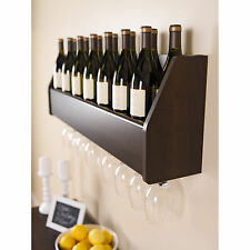 Floating Wine Rack Holds Stem Glasses Cooking Spices Holder Finest Wall Hanging