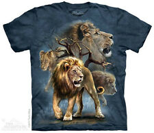 Lion Collage T-Shirt from The Mountain - Adult S-5X & Child S-XL