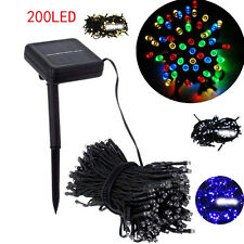 200 LED Outdoor Solar Powered String Light Garden Christmas Party Fairy Lamp GT