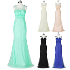 Sexy Womens Lace&Tulle Ball Gown Cocktail Evening Prom Party Bridesmaid Dress