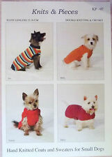 Knits & Pieces Dog Coats For small Dogs Knitting pattern KP-07