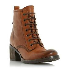 Dune Ladies PATSIE Warm Lined Leather Ankle Boot in Tan