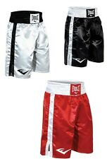 Everlast Boxing Professional Fight Shorts Pro Boxer short Black White Silver Red