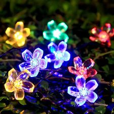 Water-proof Solar Christmas String Lights Peach Decorative 23ft 50Leds String