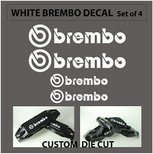 Set of 4 Brembo Decal sticker vinyl caliper brake custom wheel white/black/red