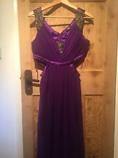 Jane Norman Purple Maxi Bridesmaid Prom Evening Dress Size 14