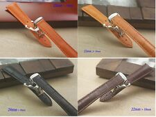 Genuine Leather Band.Strap.Bracelet OMEGA Seamaster Replacement,22mm,with buckle