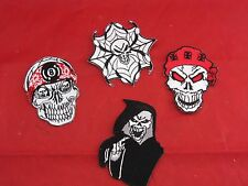 SKULL PATCH Embroidered Skull Patches For Biker Jackets