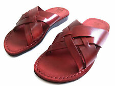 Handmade 100% Leather Jesus Sandals Men Flip Flops Biblical Shoes Thongs Strap
