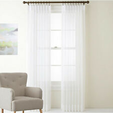 QUICKFIT SHIMMER SHEER PINCH PLEAT VOILE CURTAINS | WHITE