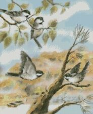 Chickadees  Cross Stitch Pattern PDF or  Printed Format