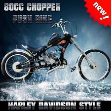 Retro Chopper Lowrider Dragster Bicycle Push Bike W' Motorized 80cc Engine Kit