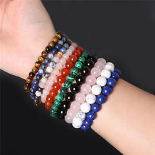Fashion Natural Stone Beads Spot Healing Stone Bangle Bracelet 0YT