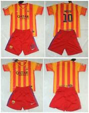 new football kits  WITH  MESSI,NEYMAR,own name shirt and short  3-14 Years