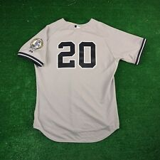 JORGE POSADA New York Yankees AUTHENTIC ON-FIELD Road Jersey w/ Retirement Patch