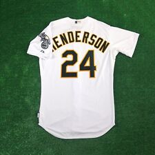 RICKEY HENDERSON Oakland Athletics AUTHENTIC Home White Cool Base Jersey Men's
