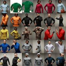 Mens Long Sleeve Compression Armour Sports Base Layer TOP Rugby Football Take 5