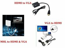 1080P HD VGA to HDMI + USB Audio Video Adapter Converter Cable For Laptop HDTV C