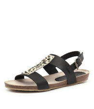 New Sofia Cruz Mia Sc Negro Womens Shoes Casual Sandals Sandals Flat