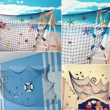 Nautical Decorative Fishing Net Seaside Beach Shell Party Door Wall Decoration