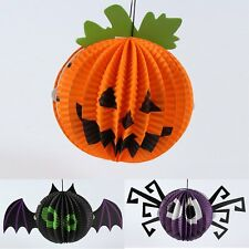 Halloween Paper Hanging Spider Bat Pumpkin Hanger Holiday Party Home Decor Props