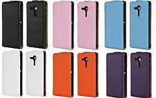 Genuine leather Flip Case Cover Open up F Sony Xperia SP experia LTE C5303 C5306