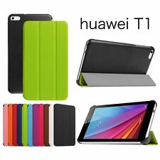 Slim PU Leather Stand Case Cover Protector Skin Pouch For Huawei MEDIAPAD T1 7.0