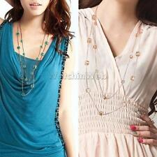Trendy Maxi Multi Layer Fashion Long Chain Sweater Necklace Jewelry Accessories