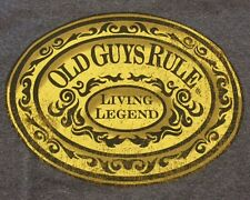"OLD GUYS RULE CLASSIC ""LIVING LEGEND"" NAVY HEATHER T SHIRT NWT FREE STICKER"