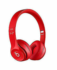 NEW BEATS BY DRE SOLO 2 WIRELESS BLUETOOTH RED ON EAR HEADPHONES MICROPHONE