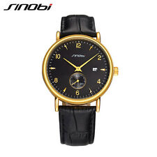 Mens Casual Watches For Luxury Brand Waterproof Leather Designer Wrist Watch