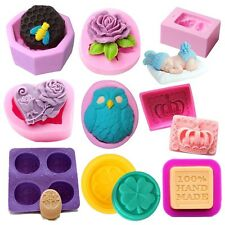 DIY Silicone Soap Mold Candle Mould Cake Candy Cookie Chocolate Mould 25 Styles