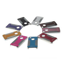Brushed Metal Surface & Plastic Plating Hard Case Cover For iPhone 4G 4S MC