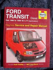 Haynes Workshop Manual Ford Transit 86-99 Diesel Ford Tourneo Turbo-Diesel 3019