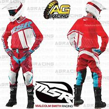 MSR 2017 Axxis Red Teal White Jersey Pants Gloves Combo Kit Motocross Enduro