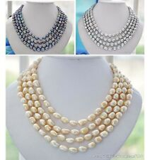 X0389 4strands baroque freshwater pearl necklace