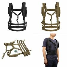Tactical Hunting Webbing Molle Chest Rig Strap Harness Vest Tactics Belt Support