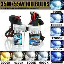 2x 35W/55W XENON HID REPLACEMENT BULBS LAMP LIGHT CAR H1 H3 H7 H11 9005 9006 880